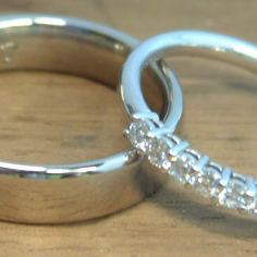 18ct White Gold Wedding Rings