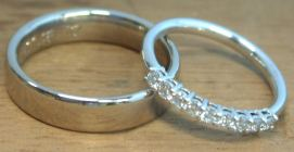 18ct White Gold Wedding Rings