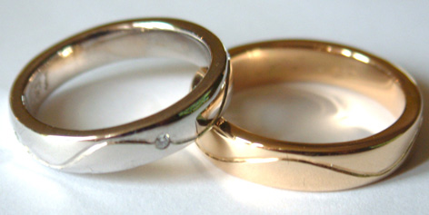 Wedding Rings - white and yellow gold