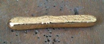 9ct Gold melted Ingot