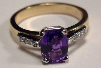 Deep purple Sapphire