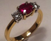 Cushion Cut Ruby