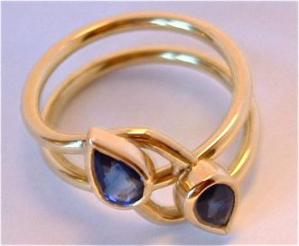 Pear Shaped Sapphires with a Twist