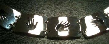 """Silver """"Hands"""" Bracelet"""