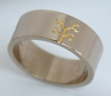 Tree of Life 24ct Gold Inlay