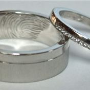 Bespoke wedding Rings in Palladium Nad Platinum