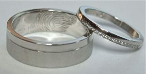Bespoke wedding Rings in Palladium Nad Platinum