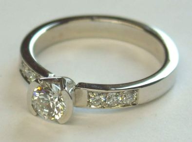 Diamonds set in Platinum