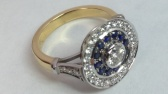 Pave set Sapphire and Diamond