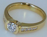 Rare white diamonds are beautiful set in Rich yellow Gold