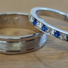 Ceylon Sapphires & Diamonds / 18ct White Gold