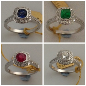 Sapphire,Emerald, Ruby,Diamond
