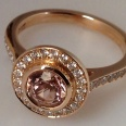 Morganite/Rose Gold