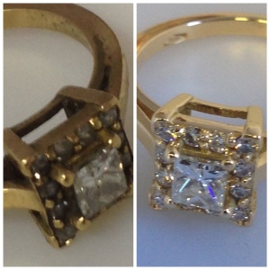 Gold Ring before and after.