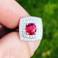 Red Spinel and Diamond