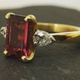 Rubelite and Diamond
